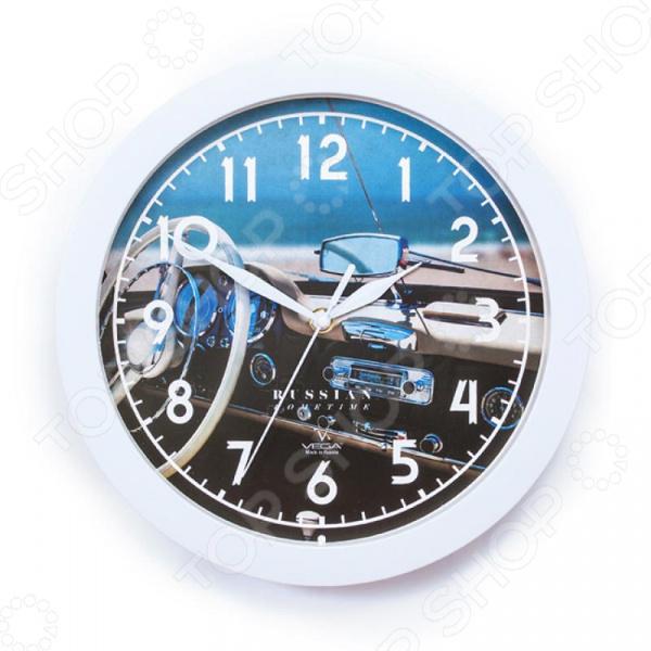 Часы настенные Вега П 1-7/7-296 «Белый руль» часы настенные вега п 4 14 7 86 новогодние подарки