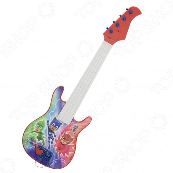 Гитара игрушечная PJ Masks с медиатором «Герои в масках» pj masks набор толстых восковых карандашей герои в масках 8 цветов 34062