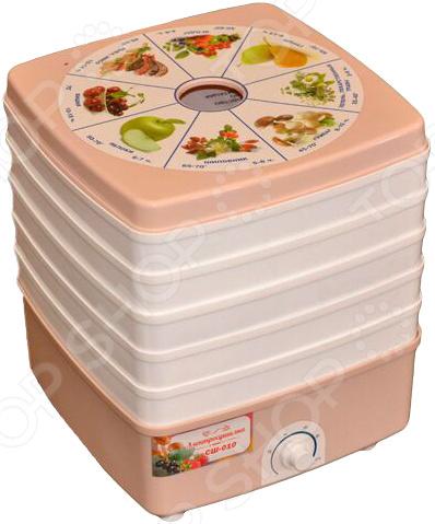 Сушилка для овощей и фруктов Помощница Люкс СШ-010 сушилка для овощей и фруктов ротор сш 007 06 сш 007
