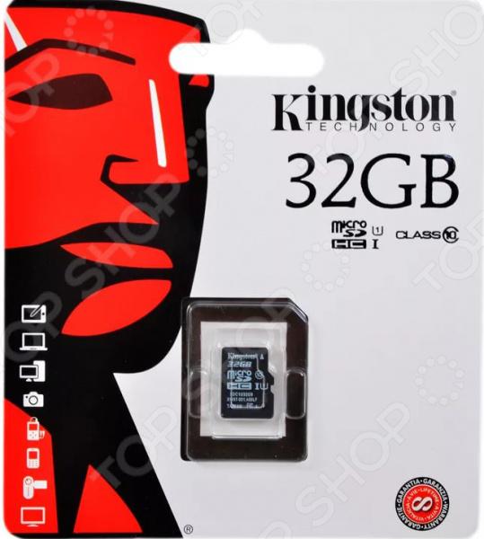 Карта памяти Kingston SDC10G2/32GBSP