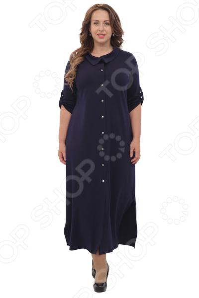 Платье Laura Amatti «Благородная особа». Цвет: синий