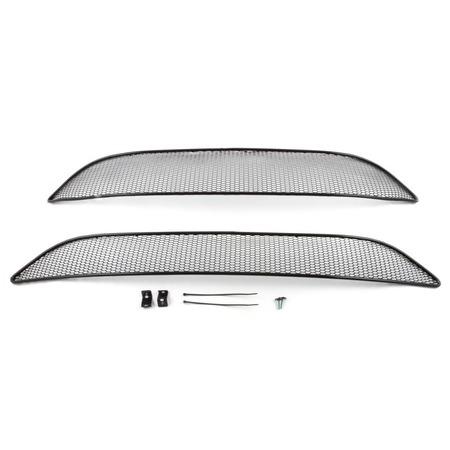 Купить Комплект внешних сеток на бампер Arbori Soty для KIA Picanto, 2015-2016. Цвет: черный