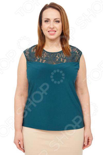 Блуза Элеганс «Маркиза». Цвет: зеленый блуза