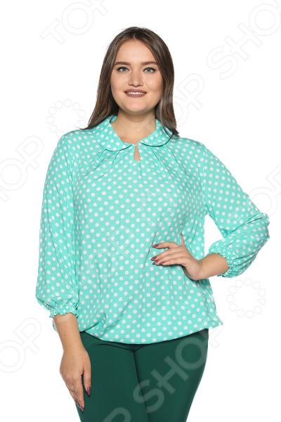 Блузка Pretty Woman «Нежность моя». Цвет: мятный недорго, оригинальная цена