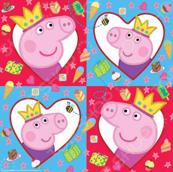Салфетки детские Peppa Pig 26062 влажные салфетки peppa pig влажные салфетки mix