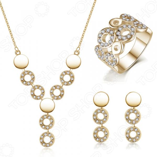 Комплект: подвеска, серьги и кольцо Bradex «Элизабетта» комплект подвеска и серьги bradex лондонские топазы