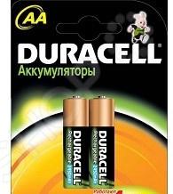 Набор батареек аккумуляторных Duracell HR6-2BL аккумулятор duracell hr6 2bl aa nimh 2400 мач 2 шт