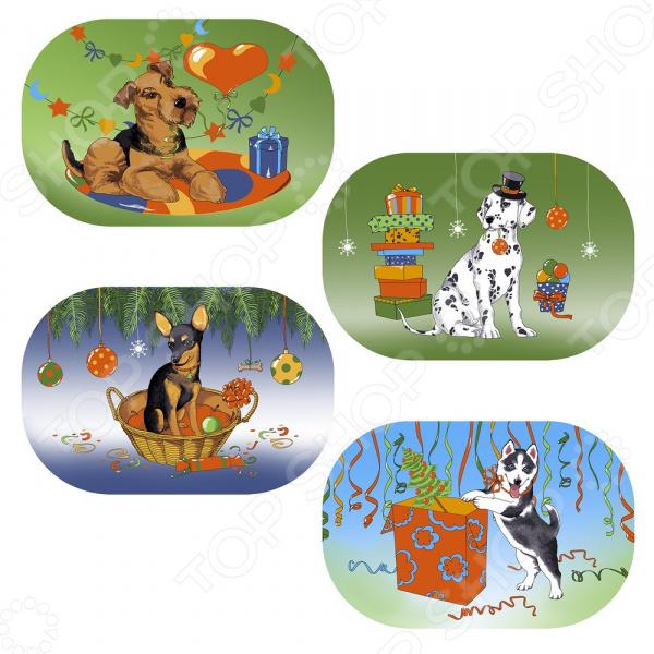 Салфетка для сервировки Мультидом «Собака на празднике» FJ88-345. В ассортименте