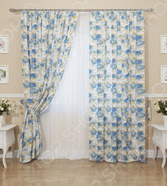 Комплект штор Сирень «Синие розы»