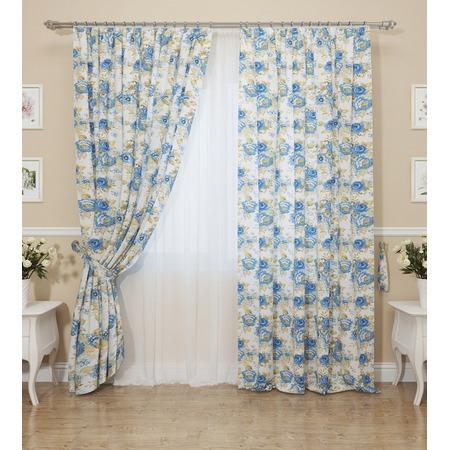 Купить Комплект штор Сирень «Синие розы»