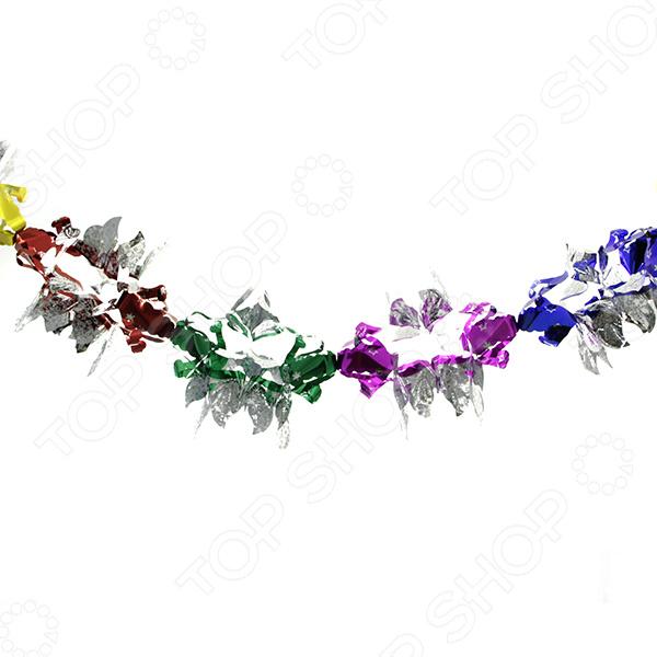 Растяжка новогодняя Новогодняя сказка «Лепестки» бусы из перламутра и хрусталя лепестки