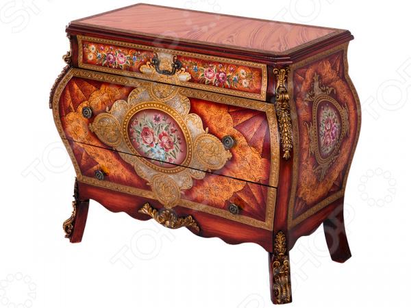 Комод 395-141 гладильный комод he wang с 3 корзинами и 2 ящиками цвет коричневый горчичный
