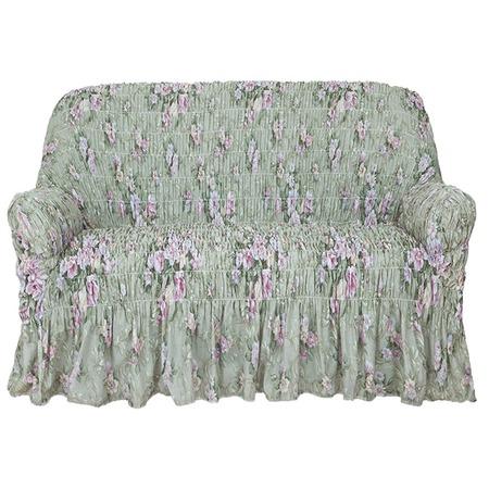 Купить Натяжной чехол на двухместный диван Еврочехол «Фантазия. Феличита»