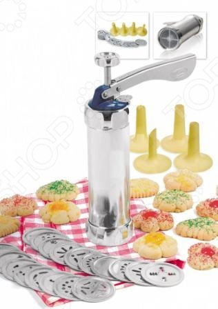 фото Шприц кулинарный с насадками Bradex «Домашняя кондитерская», Кондитерские наборы и принадлежности