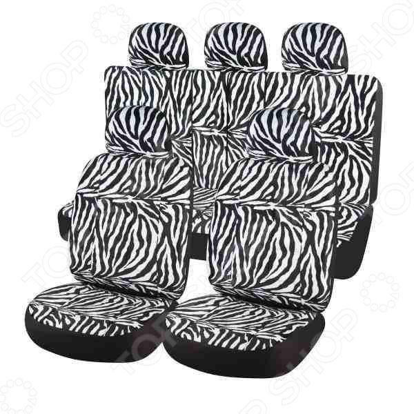 Набор чехлов для сидений SKYWAY Safari «Зебра»