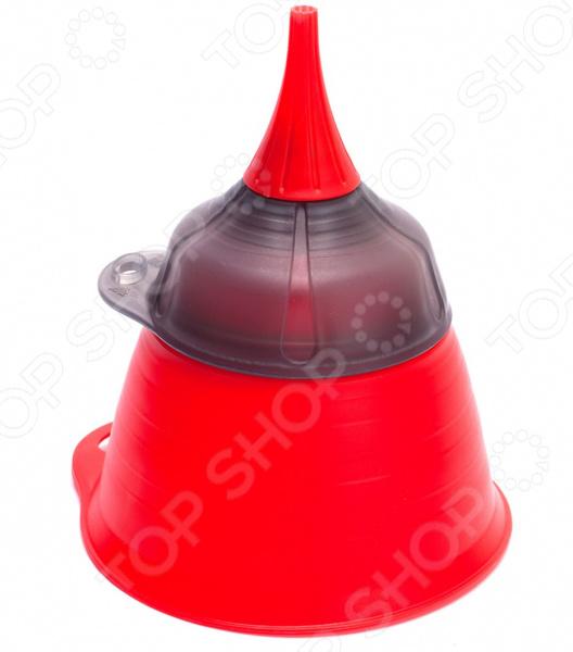 Воронка универсальная Bradex Multi Function Funnel станет прекрасным дополнением к набору аксессуаров и принадлежностей для кухни. Модель удобна и функциональна в использовании, подходит для наливания жидкостей в сосуды с узким горлышком, пересыпания специй и процеживания соусов и настоек. Воронка выполнена из термостойкого полипропилена и снабжена ситом.