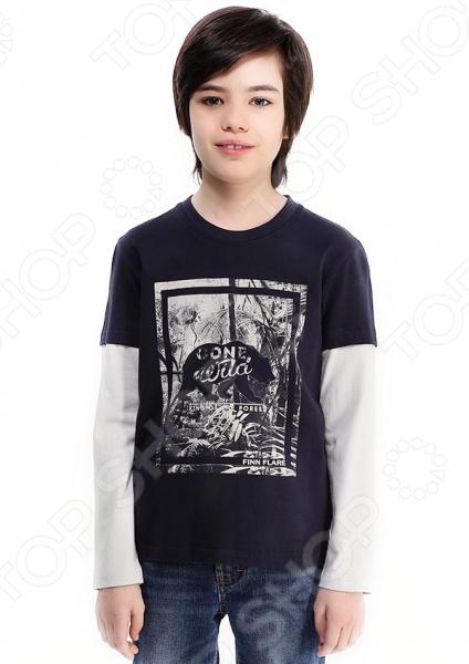 все цены на Лонгслив для мальчика Finn Flare Kids KB17-81028. Цвет: темно-синий в интернете