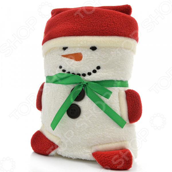 где купить Полотенце-плед 31 ВЕК «Снеговик» дешево