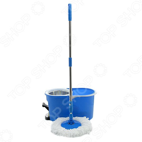 Комплект для уборки полов: швабра, ведро с отжимом QYMOP-02 Spin Mop. В ассортименте