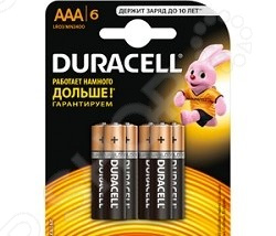Набор батареек щелочных Duracell LR03-6BL Basic