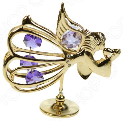 Фигурка декоративная Crystocraft «Ангел» с кристаллами Swarovski 67458