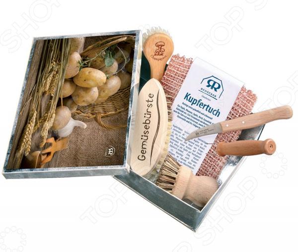 Набор ножей и щеток для чистки овощей Redecker 100005 комлев и ковыль