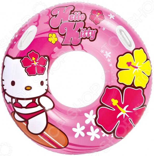 Круг надувной Intex Hello Kitty intex надувной островок hello kitty 137см 132840