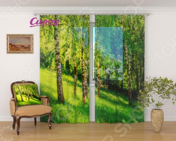 цена на Фототюль Сирень «Сочные краски леса»