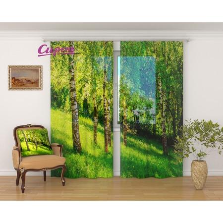 Купить Фототюль Сирень «Сочные краски леса»