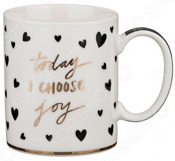 Кружка Lefard Today i choose joy 260-242 набор все хорошее начинается с кофе кружка 300 мл терка трафарет 4 шт joy
