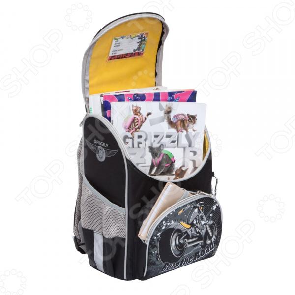 Рюкзак школьный Grizzly RA-872-5/2 рюкзак grizzly ra 872 5 2 black grey