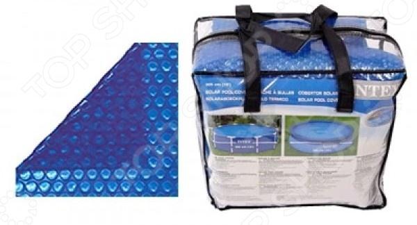 Чехол защитный для бассейна Intex с сумкой тент от солнца для бассейна intex прямоугольный с сумкой с29028 голубой 378 х 186 см