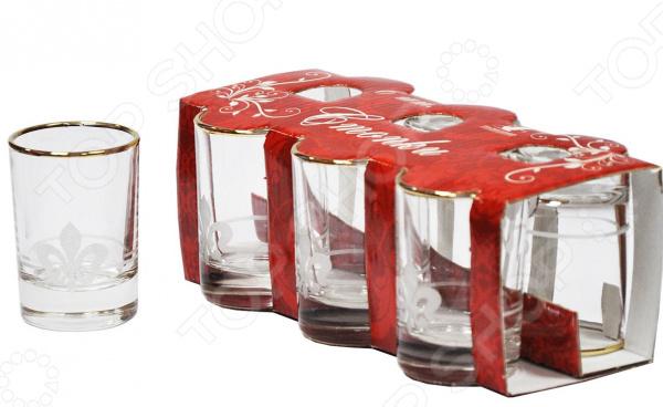 Набор стопок для водки Гусь Хрустальный «Королевская лилия» набор бокалов для бренди гусь хрустальный королевская лилия