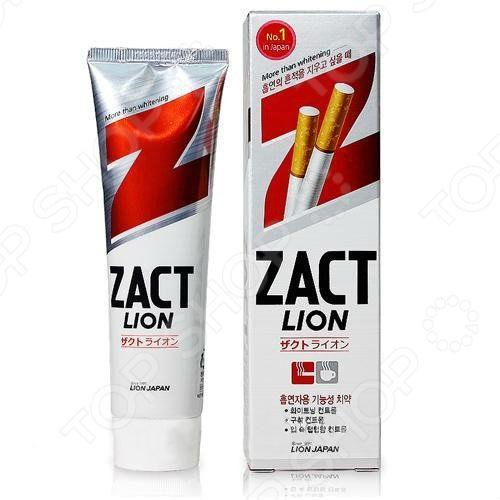 Зубная паста CJ Lion Zact  эффектом отбеливания кофейного  никотинового налета