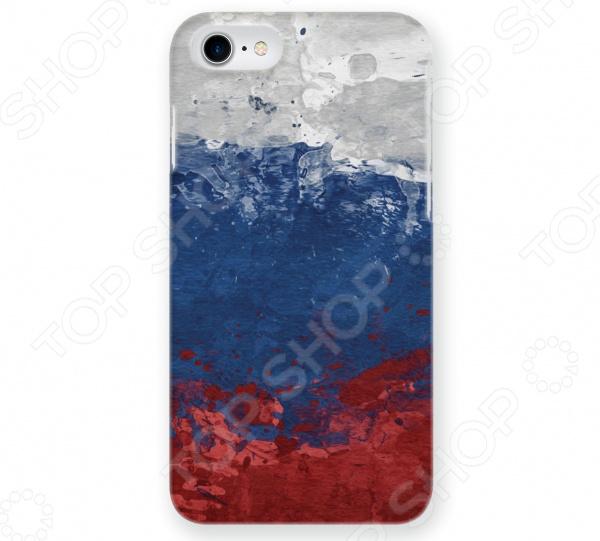 Чехол для iPhone 7 Mitya Veselkov «Флаг Российской Федерации» чехол для iphone 7 глянцевый printio русский флаг