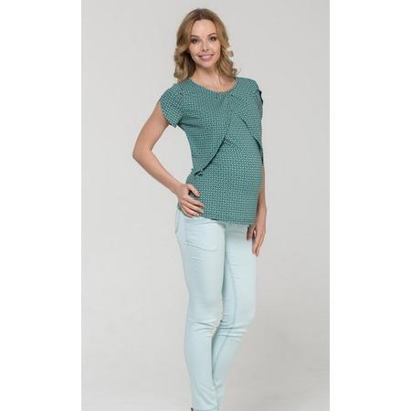 Купить Блузка для беременных Nuova Vita 1329.4. Цвет: бирюзовый