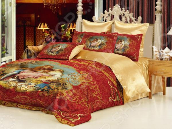 Комплект постельного белья «Аморе». Евро. Цвет: красный