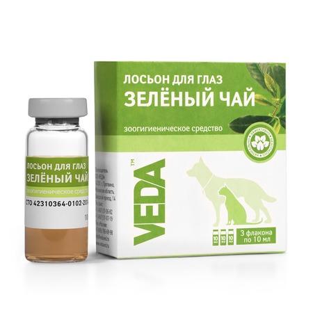 Лосьон глазной бактерицидный для кошек и собак Veda «Зеленый чай»
