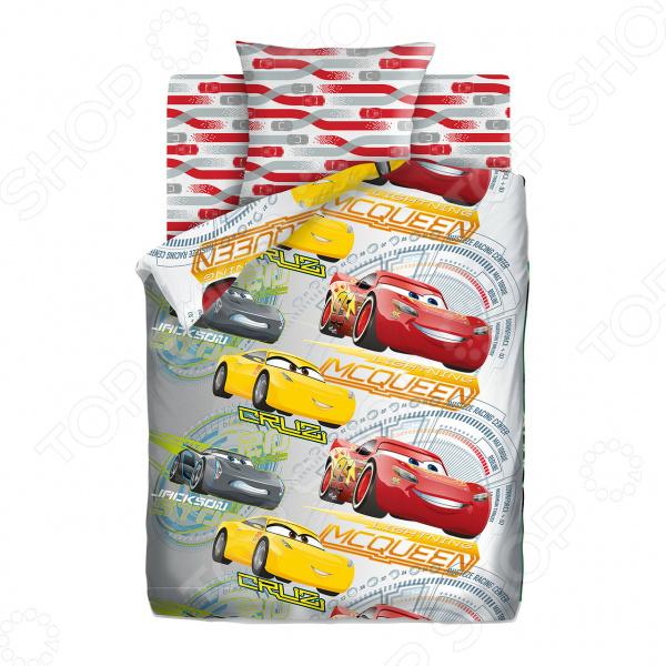 Детский комплект постельного белья Непоседа Pixar Cars «Соревнования»