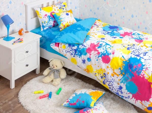 Детский комплект постельного белья Хлопковый Край Happy blue