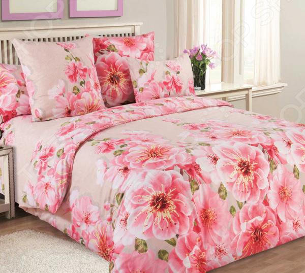 цена Комплект постельного белья Королевское Искушение «Миндаль». Тип ткани: сатин онлайн в 2017 году