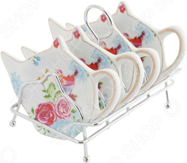 Набор подставок для чайных пакетиков Patricia «Райская птичка»