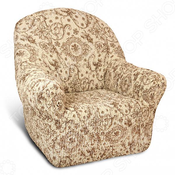 Натяжной чехол на кресло Еврочехол «Виста. Флоренция»