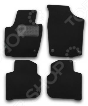 Комплект ковриков в салон автомобиля Klever Skoda Rapid 2012 Premium