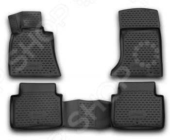 Комплект 3D ковриков в салон автомобиля Novline-Autofamily Hyundai Genesis 3D 2014 Standart
