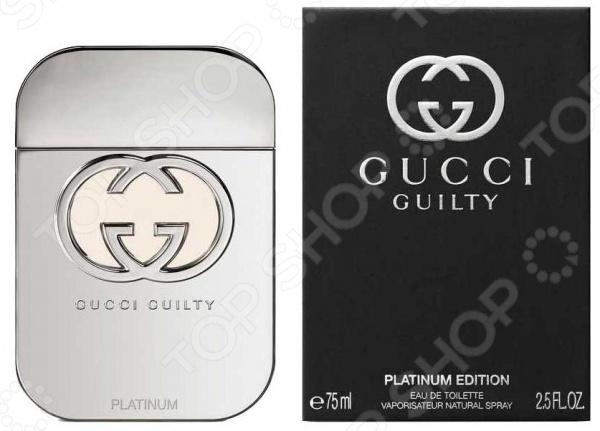 Туалетная вода для женщин Gucci Gulty Platinum туалетная вода vip club тулетная вода vip club platinum 100ml