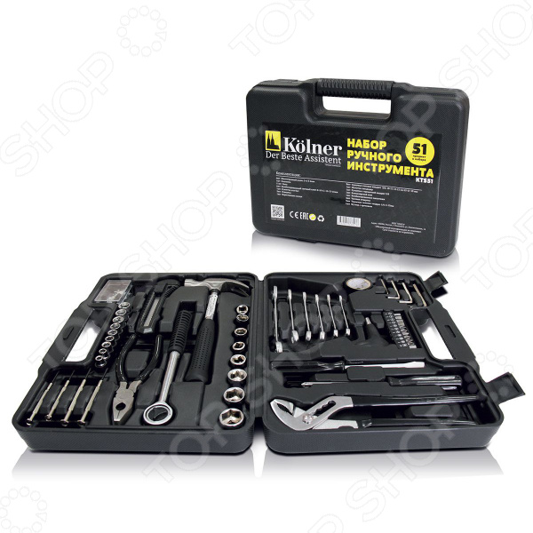 Набор ручного инструмента Kolner KTS 51 аккумуляторная отвертка kolner kcsd 4 8 кн4 8