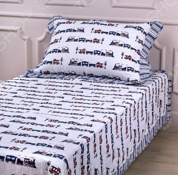 Комплект для спальни: покрывало и наволочка Santalino 806-041 для спальни