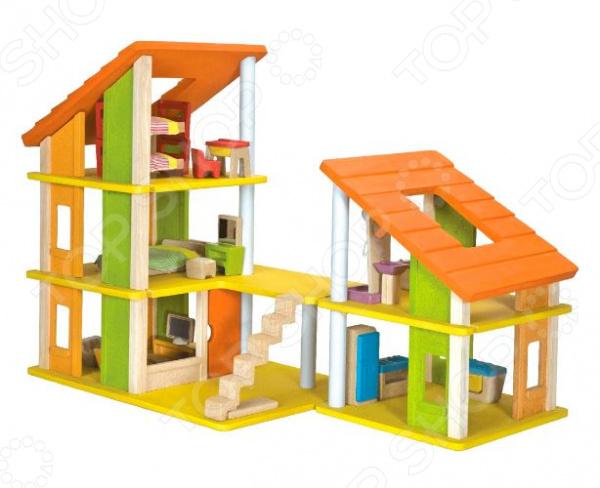 Кукольный дом с аксессуарами Plan Toys «Шале». В ассортименте