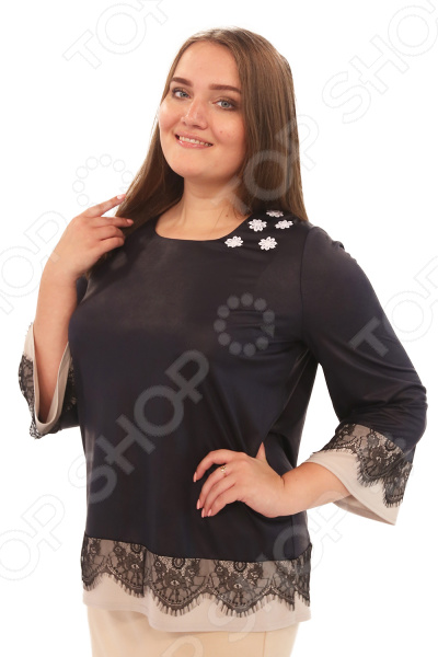 Блуза Элеганс «Изабелл». Цвет: темно-синий